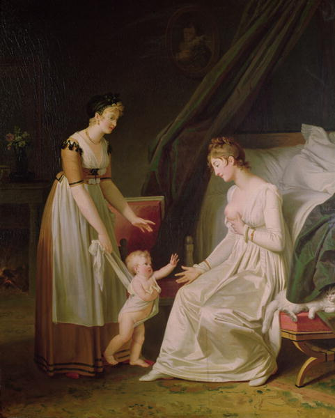 Marguerite Gerard, The Breastfeeding Mother (19th C)