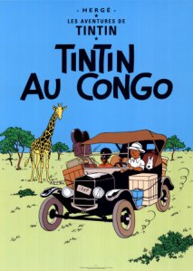 "The cover of Hergé's book ""Tintin Au Congo"""